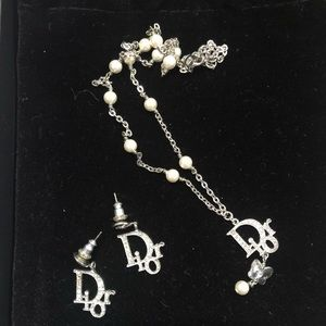 Authentic Dior Necklace and earring set.